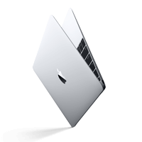 Apple silver MacBook side view