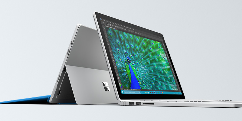 close up of Microsoft surface pro