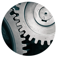 steel gears working together
